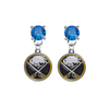 Buffalo Sabres BLUE Swarovski Crystal Stud Rhinestone Earrings