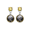 Buffalo Sabres GOLD Swarovski Crystal Stud Rhinestone Earrings