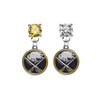 Buffalo Sabres GOLD & CLEAR Swarovski Crystal Stud Rhinestone Earrings