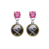 Buffalo Sabres PINK Swarovski Crystal Stud Rhinestone Earrings