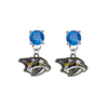 Nashville Predators BLUE Swarovski Crystal Stud Rhinestone Earrings