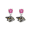 Nashville Predators PINK Swarovski Crystal Stud Rhinestone Earrings