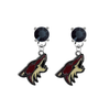 Phoenix Coyotes BLACK Swarovski Crystal Stud Rhinestone Earrings