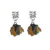 Chicago Blackhawks CLEAR Swarovski Crystal Stud Rhinestone Earrings