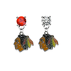 Chicago Blackhawks RED & CLEAR Swarovski Crystal Stud Rhinestone Earrings