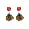 Chicago Blackhawks RED Swarovski Crystal Stud Rhinestone Earrings