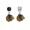 Chicago Blackhawks BLACK & CLEAR Swarovski Crystal Stud Rhinestone Earrings