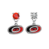 Carolina Hurricanes RED & CLEAR Swarovski Crystal Stud Rhinestone Earrings