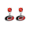 Carolina Hurricanes RED Swarovski Crystal Stud Rhinestone Earrings
