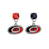 Carolina Hurricanes RED & BLACK Swarovski Crystal Stud Rhinestone Earrings