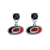 Carolina Hurricanes BLACK Swarovski Crystal Stud Rhinestone Earrings