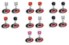 Carolina Hurricanes NHL Swarovski Crystal Stud Rhinestone Earrings