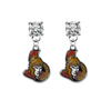 Ottawa Senators CLEAR Swarovski Crystal Stud Rhinestone Earrings