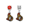 Ottawa Senators RED & CLEAR Swarovski Crystal Stud Rhinestone Earrings