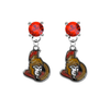 Ottawa Senators RED Swarovski Crystal Stud Rhinestone Earrings