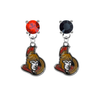 Ottawa Senators RED & BLACK Swarovski Crystal Stud Rhinestone Earrings