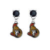 Ottawa Senators BLACK Swarovski Crystal Stud Rhinestone Earrings