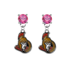 Ottawa Senators PINK Swarovski Crystal Stud Rhinestone Earrings