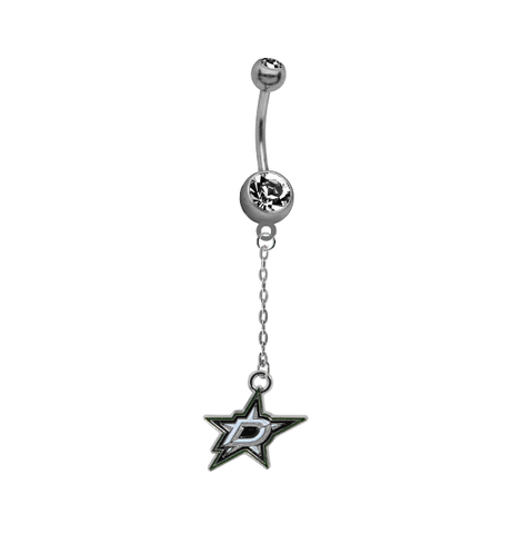 Dallas Stars Chain NHL Hockey Belly Button Navel Ring