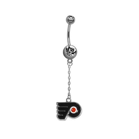 Philadelphia Flyers Chain NHL Hockey Belly Button Navel Ring
