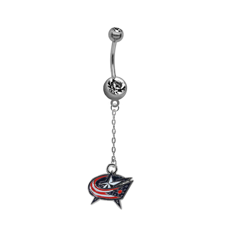 Columbus Blue Jackets Chain NHL Hockey Belly Button Navel Ring