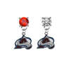 Colorado Avalanche RED & CLEAR Swarovski Crystal Stud Rhinestone Earrings