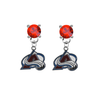 Colorado Avalanche RED Swarovski Crystal Stud Rhinestone Earrings