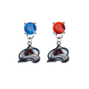 Colorado Avalanche BLUE & RED Swarovski Crystal Stud Rhinestone Earrings