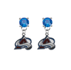 Colorado Avalanche BLUE Swarovski Crystal Stud Rhinestone Earrings