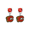 Calgary Flames RED Swarovski Crystal Stud Rhinestone Earrings
