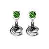 Vancouver Canucks GREEN Swarovski Crystal Stud Rhinestone Earrings