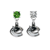 Vancouver Canucks GREEN & CLEAR Swarovski Crystal Stud Rhinestone Earrings
