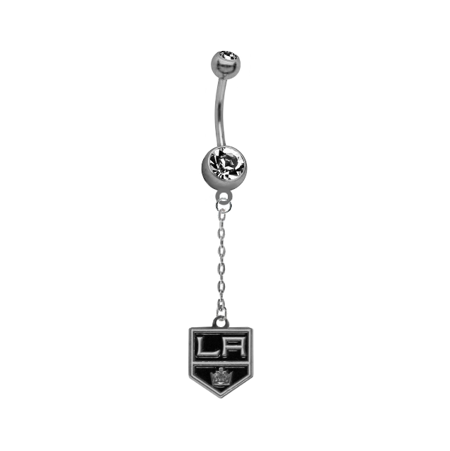 Los Angeles Kings Chain NHL Hockey Belly Button Navel Ring