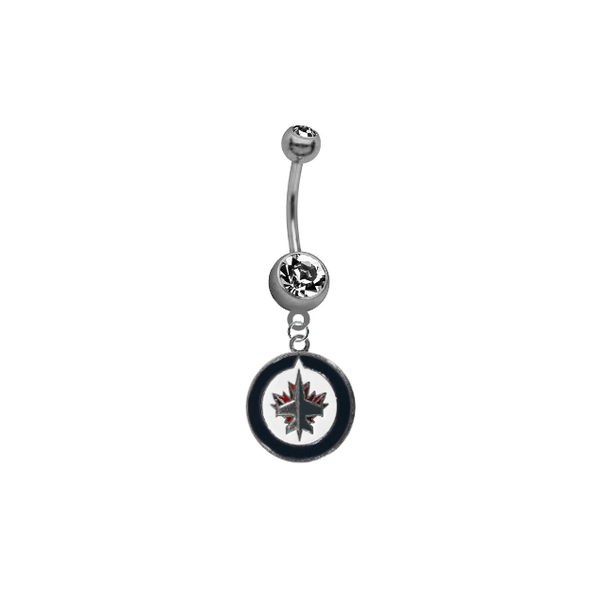 Winnipeg Jets NHL Hockey Belly Button Navel Ring