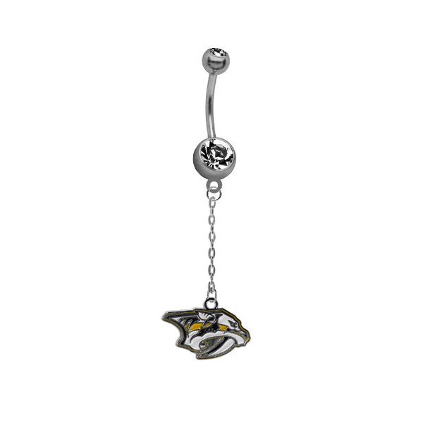Nashville Predators Chain NHL Hockey Belly Button Navel Ring