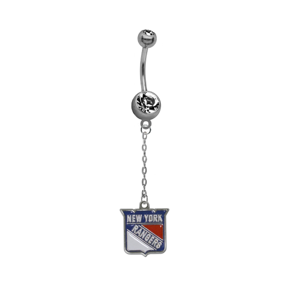New York Rangers Chain NHL Hockey Belly Button Navel Ring