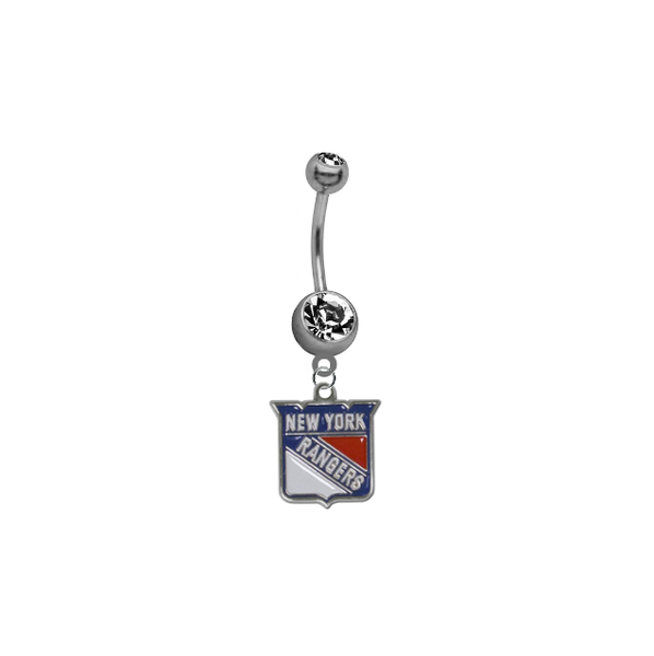 New York Rangers NHL Hockey Belly Button Navel Ring
