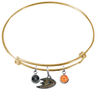 Anaheim Ducks Color Edition GOLD Expandable Wire Bangle Charm Bracelet