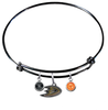 Anaheim Ducks Color Edition BLACK Expandable Wire Bangle Charm Bracelet