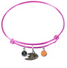 Anaheim Ducks Color Edition PINK Expandable Wire Bangle Charm Bracelet