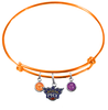 Phoenix Suns ORANGE Color Edition Expandable Wire Bangle Charm Bracelet