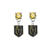 Vegas Golden Knights GOLD Swarovski Crystal Stud Rhinestone Earrings
