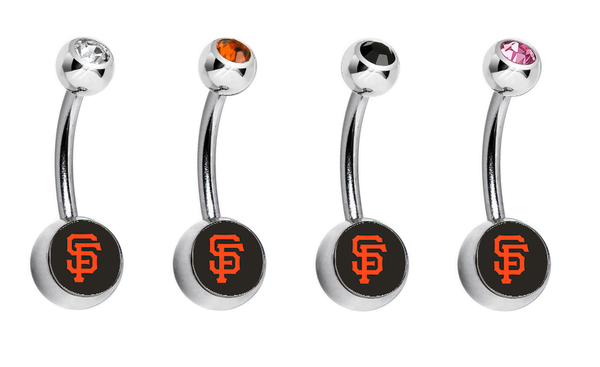 San Francisco Giants Swarovski Crystal Classic Style MLB Belly Ring
