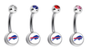 Buffalo Bills Swarovski Crystal Classic Style NFL Belly Ring