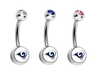 Los Angeles Rams Swarovski Crystal Classic Style NFL Belly Ring