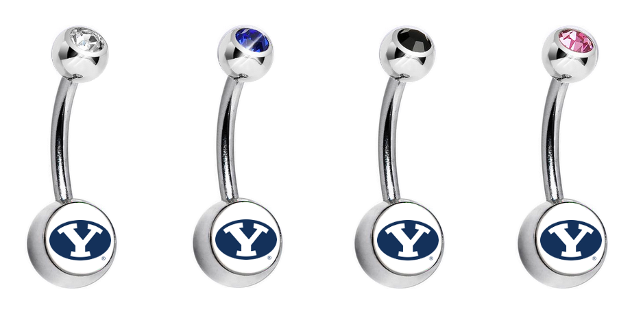 BYU Brigham Young Cougars Swarovski Classic Style 7/16