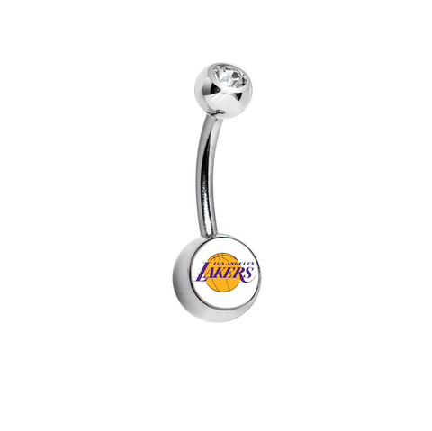 Los Angeles Lakers Clear Swarovski Classic Style 7/16