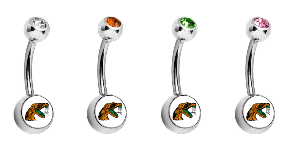 Florida A&M Rattlers Swarovski Classic Style 7/16