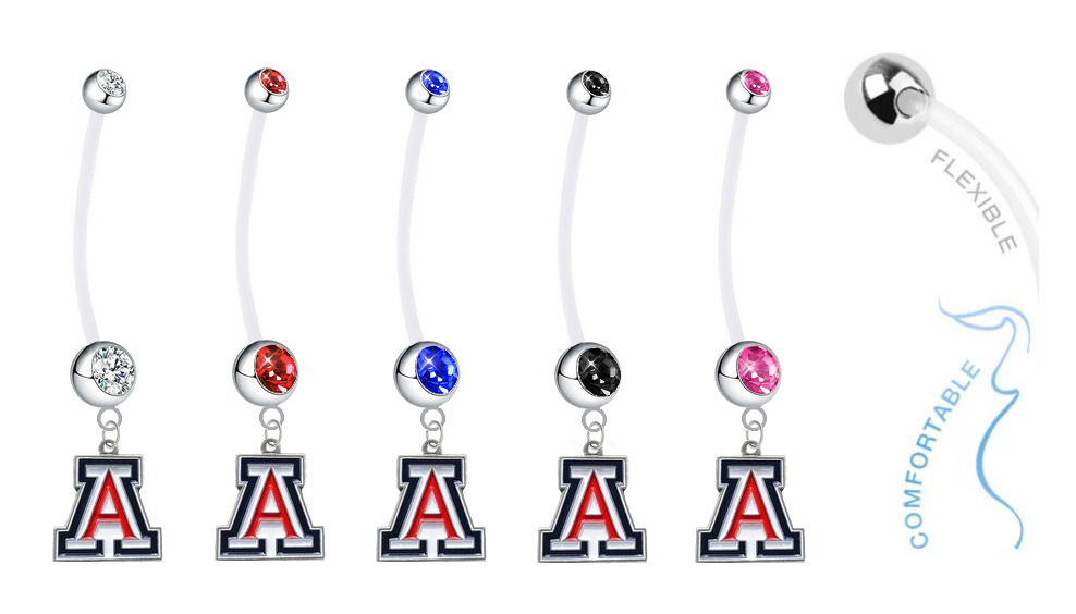 Arizona Wildcats Pregnancy Maternity Belly Button Navel Ring - Pick Your Color