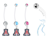 Arizona Wildcats Boy/Girl Pregnancy Maternity Belly Button Navel Ring